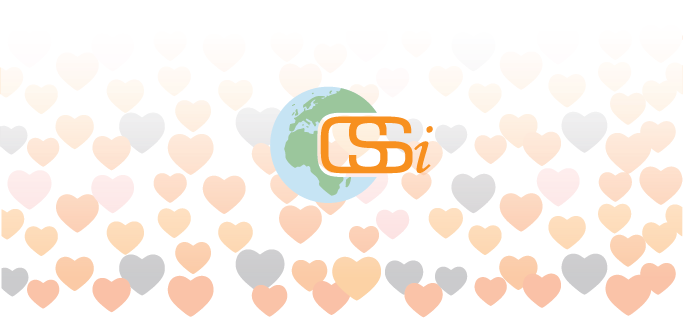 CSSi logo with hearts