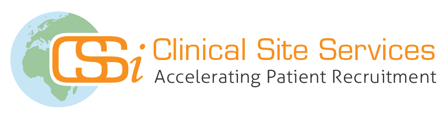 CSSi Clinical Site Services logo with tagline 2018