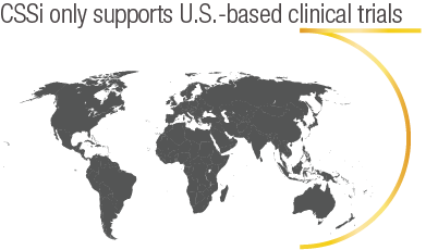 CSSi only supports U.S.-based clinical trials, image