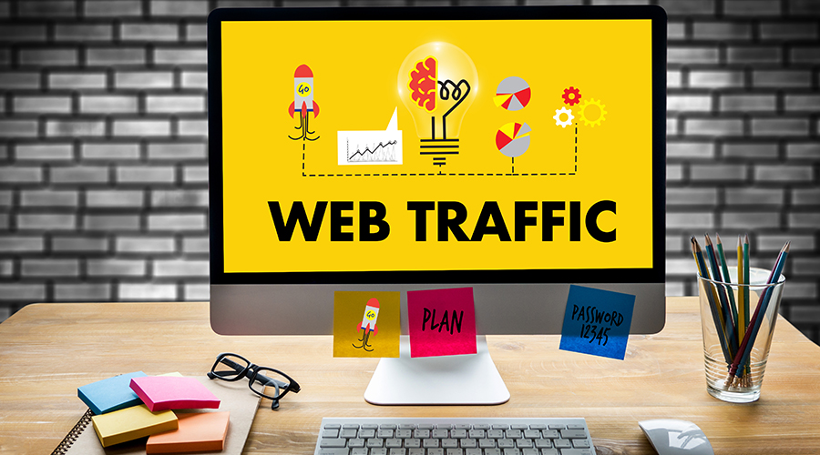 images of websites driving traffic